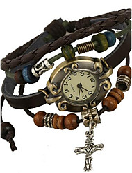 Женские Модные часы Цифровой Кожа Группа Коричневый
