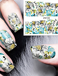 cheap -fashion printing pattern water transfer printing fleury nail stickers