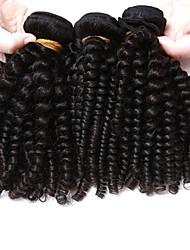 abordables -3 offres groupées Cheveux Brésiliens Kinky Curly / Tissage bouclé Cheveux Vierges Tissages de cheveux humains Tissages de cheveux humains Extensions de cheveux humains / Très Frisé