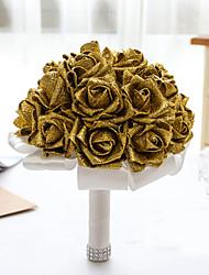 Shimmering Powder Flower Elegant Hand Made Decorative Artificial Bride Vestidos Wedding Bouquets