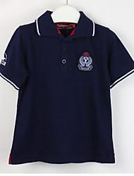 Mädchen T-Shirt Druck Polyester Sommer Schwarz