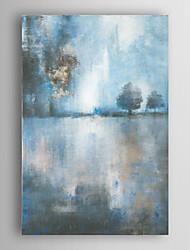 ručně malované olejomalba abstraktní jezero za soumraku s natažené rámem 7 stěny arts®