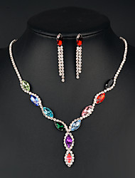 cheap -Women's Jewelry Set Crystal Fashion Bridal Wedding Party Special Occasion Anniversary Birthday Gift Daily Alloy Earrings Necklaces