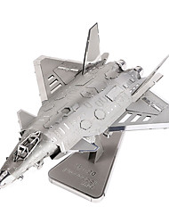 cheap -3D Puzzles Jigsaw Puzzle Metal Puzzles Model Building Kit Plane / Aircraft Fighter Aircraft Fun Metal Alloy Metal Classic Gift
