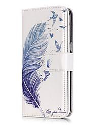 Недорогие -Кейс для Назначение SSamsung Galaxy Samsung Galaxy S7 Edge Кошелек / Бумажник для карт / со стендом  Перья для S7 edge / S7 / S6 edge