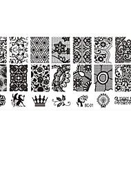 Moldes de Unhas Acrílicas 3D - Adorável / Punk / Casamento - para Dedo - de Metal - com 1 - 12*6*0.2 - (cm)