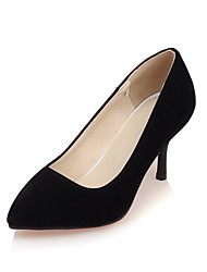 Women's Heels Spring Summer Fall Winter Fleece Office & Career Party & Evening Casual Stiletto Heel Black Beige Blue