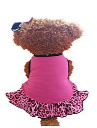Chien Robe Vêtements pour Chien Rouge Rose fuchsia/Noir Costume Pour les animaux domestiques