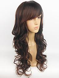 cheap -Women Synthetic Wig Long Wavy Black Costume Wig