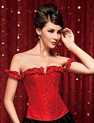 YUIYE® Elegant Women Red Sexy Lingerie Waist Training Corset Bustier Tops Shapewear Overbust Corset Plus Size