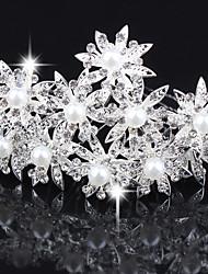 10 PCS  Women's Pearl Headpiece-Wedding U Shape Hair Pin / Hair Stick Jewelry