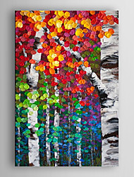 cheap -Hand Painted Oil Painting Landscape Abstract Colour ful Tree with Stretched Frame 7 Wall Arts®
