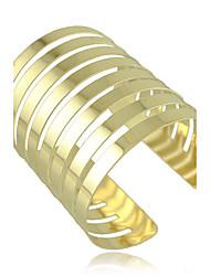 cheap -European Style Retro Fashion Metal Exaggerated Geometric Simplicity Striped Long Cuff Bracelet