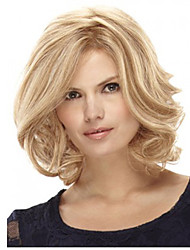 cheap -Women Short Curly Synthetic Hair Wig Blonde Heat Resistant Fiber Cheap Cosplay Party Wig Hair