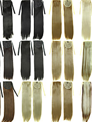 cheap -Ribbon Drawstring Ponytails Hairpiece Clip In Hair extensions Natural Black /Dark Brown /Blonde