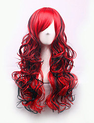 cheap -Best-selling Europe And The United States A Wig And Red Mixed Partial Curly  Hair Wig