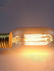 E27 AC220-240V 40W Silk Carbon Filament Incandescent Light Bulbs T45 Around Pearl