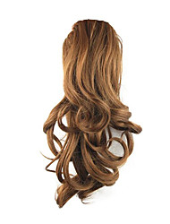 cheap -Drawstring Curly Ponytails Elastic Synthetic Hair Piece Hair Extension 14 inch Medium Auburn