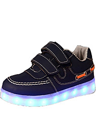 cheap -Men's / Women's / Unisex Shoes Leatherette Spring Comfort / Light Up Shoes Sneakers Magic Tape / LED for Navy / Black