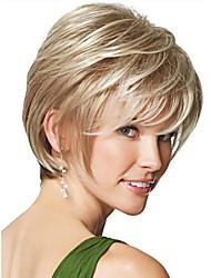 economico -Donna Parrucche sintetiche Pantaloncini Dritto Biondo Parrucca naturale Parrucca di Halloween Parrucca di carnevale Parrucca per