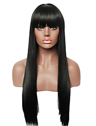 cheap -Human Hair Capless Wigs Human Hair Straight Capless Wig