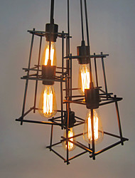 5 Heads Vintage Contracted Wrought Iron Pendant Lights Restaurant,Cafe ,Game Room,Living Room light Fixture