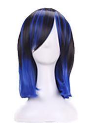 Kvinder Syntetiske parykker Lågløs Vand-bølget Regnbue Ombre-hår Med bangs / pandehår Halloween Paryk Carnival Paryk kostume Parykker