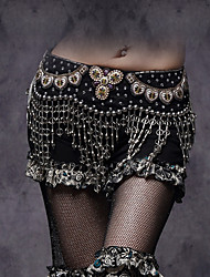 cheap -Belly Dance Belt Women's Performance Polyester / Metal / Plastic Rhinestone / Sequin / Tassel Belt