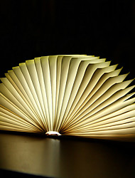 cheap -Creative Flip Book Page Warm White LED Nightlight Novel Folding Books USB Bed Lamp
