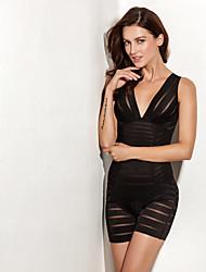ONICE® Polyester Corset Dresses Black / Skin-ANS-2240