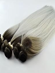 Недорогие -горячей продажи синтетический яки волна T1B / серебро волос соткать наращивание волос