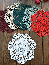 cheap -15cm Round Colorful Lovely Eco-Friendly Cotton Handmade Wedding Table Decoration 20pcs/set