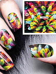cheap -Fashion Printing Pattern Water Transfer Printing Colours Fireworks Nail Stickers