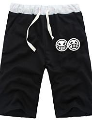 abordables -Inspirado por One Piece Ace Animé Disfraces de cosplay Tops Bottoms Cosplay Un Color Pantalones cortos Para Hombre