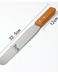 Недорогие -1шт Нержавеющая сталь Дерево Хлеб Торты Пицца Выпечка и кондитерские шпатели Инструменты для выпечки