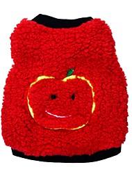 cheap -Cat Dog Pajamas Vest Dog Clothes Fruit Black Red Blue Polar Fleece Costume For Pets Men's Women's Casual/Daily