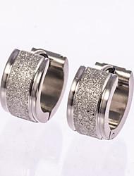 Homens Brincos Curtos Brincos em Argola bijuterias Jóias Para Casamento Festa Diário Casual