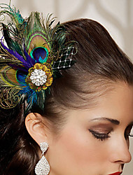 2016 New Fashion Party  Feather Hair Accessories Hand Made Head Piece Clip in Hair