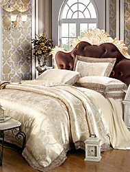 cheap -Duvet Cover Sets Luxury Modal Tencel Jacquard 4 Piece