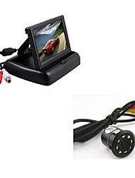 "cheap -Car Rear View Backup 8LED Night Vision Camera + 4.3"" TFT Foldable Display Monitor"