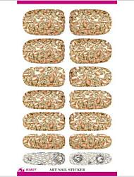 abordables -k5627 uñas transferencia de agua pegatinas de arte pétalos metálicos herramientas de diseño de uñas decoración serie de perlas joya