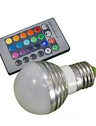 baratos -1pç 3 W 150 lm E26 / E27 Lâmpada de LED Inteligente 1 Contas LED LED de Alta Potência Controle Remoto / Decorativa RGB 85-265 V / 1 pç / RoHs