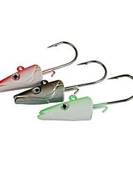 Pesca-6 pcs Verde / Prateado / Vermelho Metal-Brand  NewIsco de Arremesso / Rotação / Pesca de Água Doce / Pesca Baixa / Pesca de Isco /