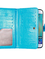 cheap -Case For Samsung Galaxy Samsung Galaxy S7 Edge Card Holder Wallet with Stand Flip Full Body Cases Solid Color Soft PU Leather for S8 Plus