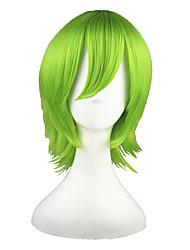 economico -Parrucche Cosplay Tutor Hitman Reborn! Yoruichi Shihoin Verde Corto Anime Parrucche Cosplay 35 CM Tessuno resistente a calore Uomo / Donna