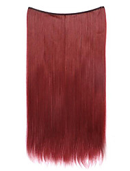 Wig Red 55CM Synthetic High Temperature Wire Straight Hair Piece Color 118