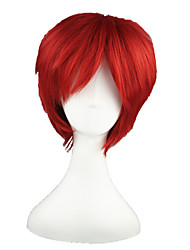 cheap -Synthetic Wig Straight Synthetic Hair Red Wig 13cm(Approx5inch) Capless
