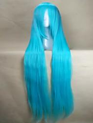 economico -hairjoy Donna Parrucche sintetiche Molto lungo Dritto Rosso Verde Blu Azzurro chiaro Grigio Con frangia Parrucca per travestimenti
