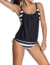Women's Sporty Halter One-piece,Animal / Sport Polyester Blue / Gray / Black / Dark Blue
