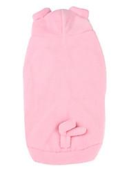 Cani Costumi Felpe con cappuccio Rosa Abbigliamento per cani Inverno Primavera/Autunno Fantasia animale Divertente Cosplay